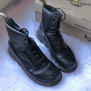 Dr. Marten 8 Eye 1480 W Combat Boot Black Smooth